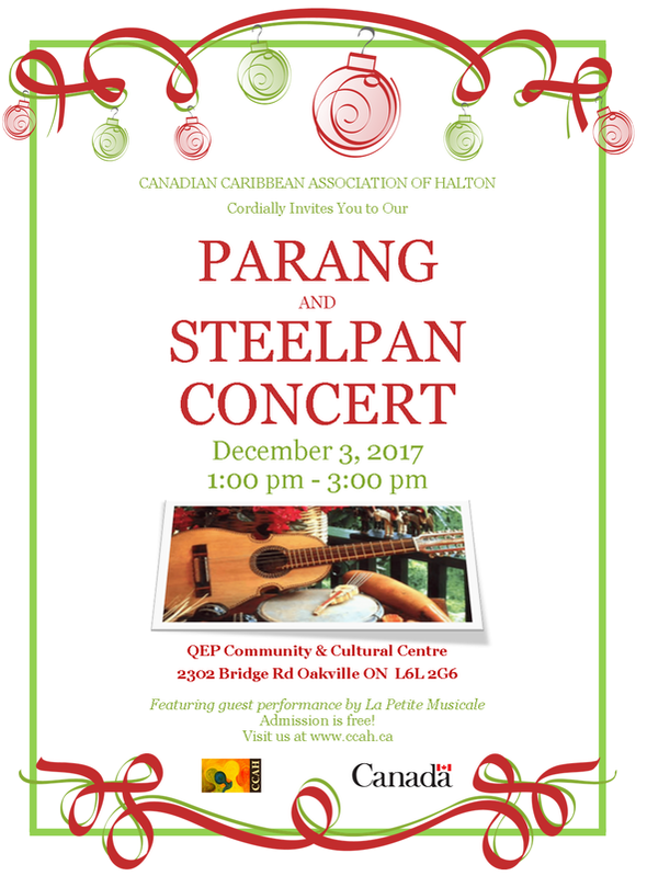 Parang and Steelpan Concert Flyer